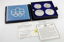 1976 Montreal Olympics Silver Set Series III w/ Original Box and Papers