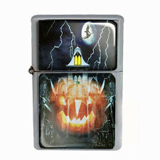 Wind Proof Dual Torch Refillable Lighter Halloween Design-002