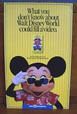 Authentic Walt Disney World Vacation Planner Park Prop Cardboard Sign 11x18in.
