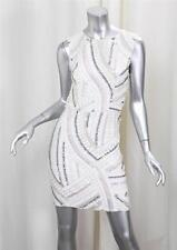 TOPSHOP White Silver Sequin Paillettes Sleeveless Shift Cocktail Dress sz. 2 NEW
