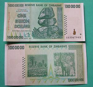 ZIMBABWE   2008,  1  BILLION   DOLLARS,  Unc.