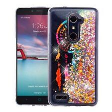 ZTE Phone Bling Hybrid Liquid Glitter Quicksand Rubber TPU Protective Case Cover