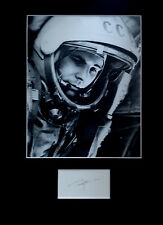 YURI GAGARIN signed autograph DISPLAY First Man In Space