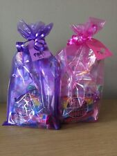 Girls Unicorn Pre Filled Birthday Party Bags With Thank You Tag (minimum Order 5