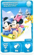Carte Mickey Mouse & Friends - n° 2 - Mickey - Minnie & Pluto - Hivers - 2012