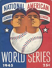 1945 World Series program Chicago Cubs Detroit Tigers owned by Billy Pierce Gm 6