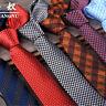Jacquard Woven Wedding Men's Necktie Narrow Polyester silk Tie Party Skinny Slim