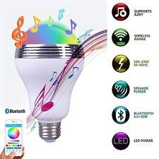 E27 6W Bluetooth APP Control Music Light Audio Speaker LED RGB Smart Bulbs Lamp