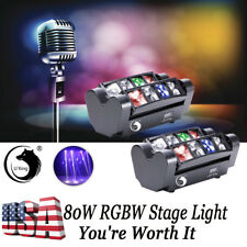 U`king 2PCS 80W RGBW LED Spider Beam Moving Head Stage Lighting DJ Party Theater