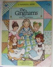 Vintage Whitman Ginghams Visit Gandma paper dolls Playbook 1981 uncut/unused