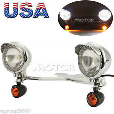 Motorcycle Passing Light W/ Turn Signals Set For Honda VTX 1300 1800 C R S RETRO