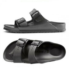 BIRKENSTOCK ARIZONA EVA 1001498 Narrow Metallic Black Slides Sandals Slipper