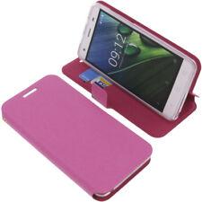 Tasche für Acer Liquid Z6E Book-Style Schutz Hülle Handytasche Buch Pink