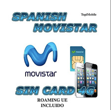 Sim card/micro/nano prepaid movistar spain 10 € balance, and 4g-EU-roaming