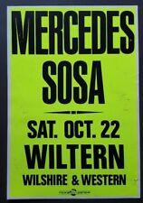 MERCEDES SOSA Original Promo Concert Poster '88 LA Folk Nueva Canción Argentina