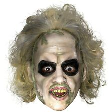 Beetlejuice Overhead Costume Mask Adult Mens Funny & Scary Ghost Halloween