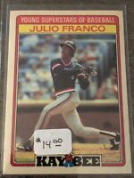 1986 Cleveland Indians Kay-Bee Baseball Card #14 Julio Franco - GEM MINT