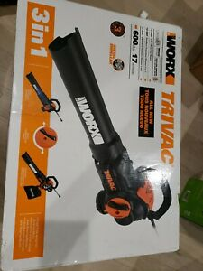 WORX Trivac 600-CFM 70-MPHVacuum Kit Included Corded Electric Leaf Blower-WG522