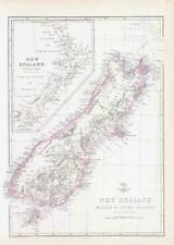 More details for 1863 map new zealand middle & south islands new munster by edward weller (da221)