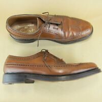 Florsheim Imperial Long Wingtip Pebbled Leather Full Brogue US 9.5 B 631461