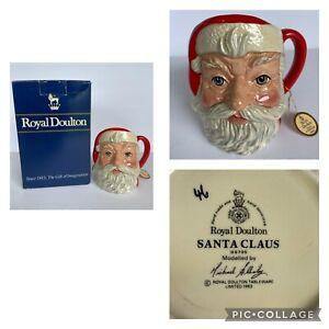 """Royal Doulton Santa Claus Character Mug D6705 with Original Box 1983 4-1/4"""" Tall"""