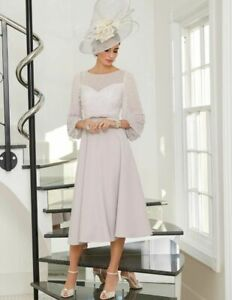 NEW Veni Infantino 10 12 Taupe Pearl Dress Mother of The Bride Wedding Occasion