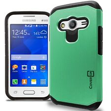 for Samsung Galaxy Ace NXT Case - Teal / Black Slim Rugged Armor Phone Cover