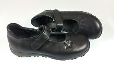 GIRLS RICHTER SCHOOL SHOES LEATHER BLACK TOUCH FASTENING SIZE 9