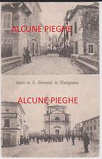 SAN GIOVANNI IN MARIGNANO RIMINI 2 VEDUTE ANIMATE 1918 CON PIEGHE MA BELLA ! ! !