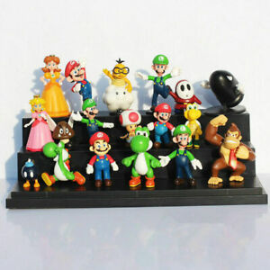 18 Pcs Super Mario mini Figure Cute Toys doll Action figures Collection Gift NEW
