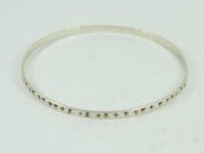 Ladies Bangle Sterling Silver Bracelet Stunning 925 4.4g Fz13