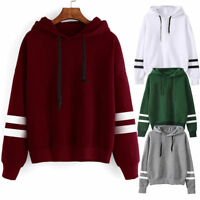 Womens Hoodies Sweatshirt Long Sleeve Sweater Blouse Jumper Pullover Tops Casual