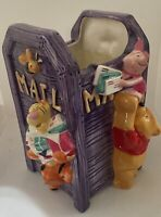 Disney Porcelain Winnie the Pooh Tigger and Friends Mailbox Vase Pen Holder Box