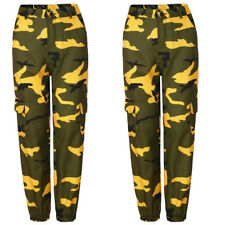 US STOCK Womens Camo Cargo Trousers Casual Pants Combat Loose Camouflage Jeans