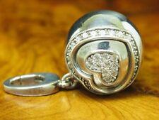 925 Sterling Silber Herz Anhänger mit Zirkonia Besatz / Echtsilber / Jette Joop