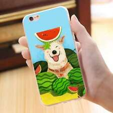 Lovely Doggy Summer Watermelon Pattern Thin Soft TPU Case Cover for iPhone 7Plus