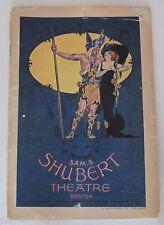 1914 SHUBERT Theatre Boston Souvenir Program Lew Field's in All Aboard  Illus..