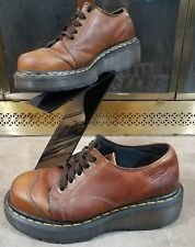 Vintage Dr. Martens AirWair Leather Shoes Low Top Boots Brown Women's Size 5