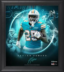 """Xavien Howard Miami Dolphins Framed 15"""" x 17"""" Stars of the Game Collage"""