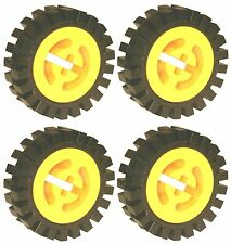 Missing Lego Brick 3482 & 3483 x 4 Yellow Wheel Center Large & Tyre Small