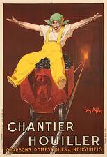 Affiche Originale - Jean d'Ylen - Chantier Houiller - Charbon industriel - 1924