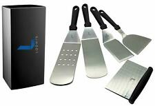 Set of 5 Metal Spatula Stainless Steel with Plastic Handle – Multipurpose BBQ