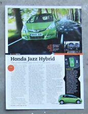 HONDA JAZZ HYBRID EV 2011 HATCH Car Auto Magazine Page Article Test Drive Review