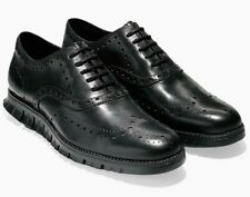 Cole Haan Zerogrand Wingtip Black Leather Shoes C20719 Size 7.5, 8.5, 9 (W Wide)