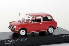 Autobianchi A112, 1974 rot Minichamps 1:43 NEU/OVP
