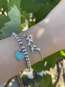 Tiffany & Co. Paloma Picasso Olive Leaf Branch Vine Bracelet Sterling Silver 925