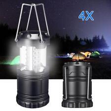 LED Camping 4 Pack Portable Outdoor Lantern Collapsible Fishing Hiking Lamp 3xaa