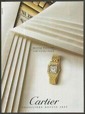 CARTIER Montre Panthere - 1993 Vintage Print Ad