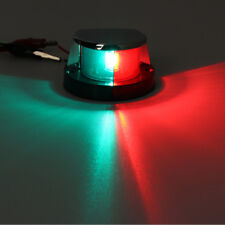 Marine Boat Yacht Bi-color Bow Navigation Lights Red Green Front Signal Light