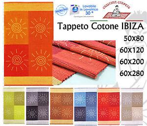 Tappeto Cotone IBIZA Bagno Cucina Lavabile in Lavatrice Varie Misure Vari Colori